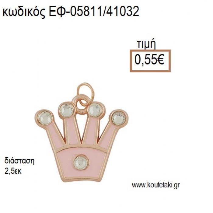 ΚΟΡΩΝΑ ΜΕ ΣΤΡΑΣ ΡΟΖ ΧΡΥΣΟ ΜΕ ΡΟΖ ΣΜΑΛΤΟ accessories για μπομπονιέρες - δώρα ΕΦ-05811/41032 0.55€!!!