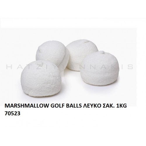 MARSHMALLOW GOLF BALLS ΛEYKO ''ΧΑΤΖΗΓΙΑΝΝΑΚΗ''  1KG 70523