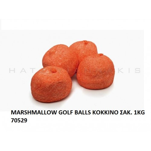 MARSHMALLOW GOLF BALLS KOKKINO ''ΧΑΤΖΗΓΙΑΝΝΑΚΗ'' 1KG 70529